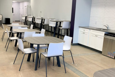 Open Floor Plan with Tables, Bistro Tables, and Chairs